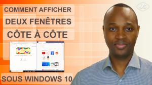 Afficher deux fenêtres côte à côte sous Windows 10