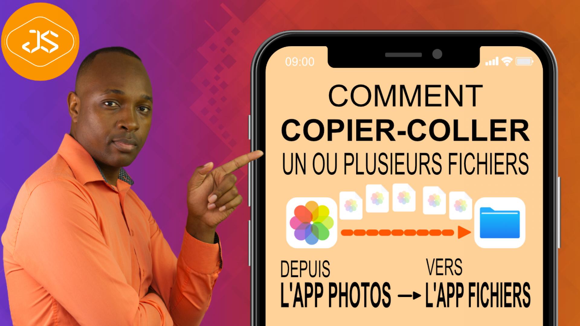Comment copier-coller un fichier depuis l'App Photos vers l'App Fichiers sur votre iPhone